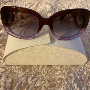 Authentic purple ombré Prada Sunglasses- swirl arm